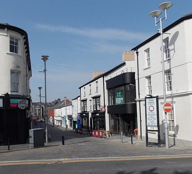 Pedestrian zone, Caroline Street, Bridgend