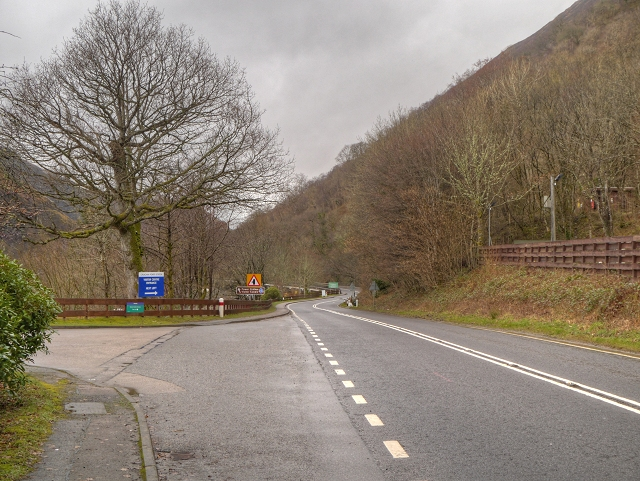 A85 Passing the Falls of Cruachan