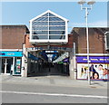 SS9079 : Nolton Street entrance to The Rhiw Shopping Centre, Bridgend by Jaggery