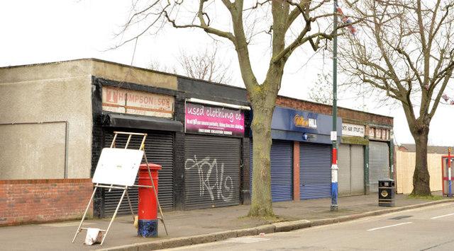 Shops, Templemore Avenue, Belfast (March 2014)