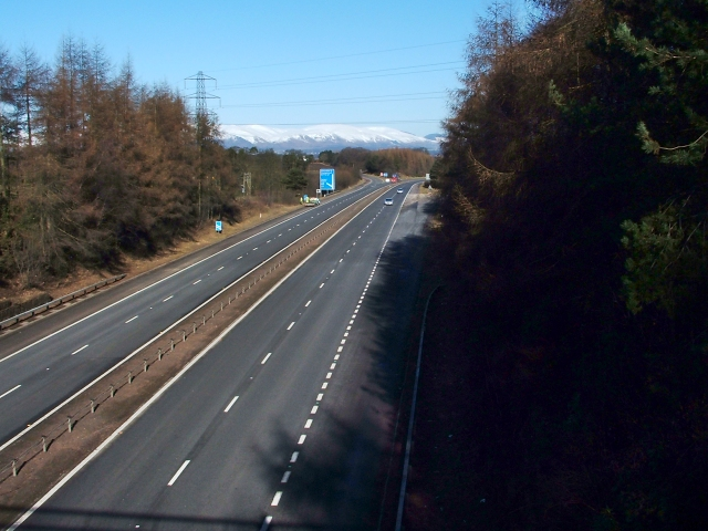 Motorway viewed from footbridge