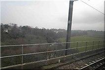 NU2212 : The river Aln from the East Coast main railway by Steve  Fareham