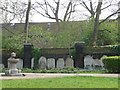 TQ3082 : Gravestones, St George's Gardens by Christine Johnstone