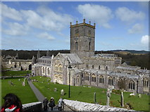 SM7525 : St. David's Cathedral and Bishop's Palace, St. David's, Pembs by Jeremy Bolwell
