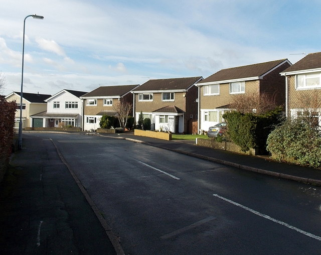 West side of Hunter Close, Rogerstone, Newport