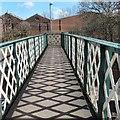 SJ9496 : Shadows on the crossover bridge by Gerald England