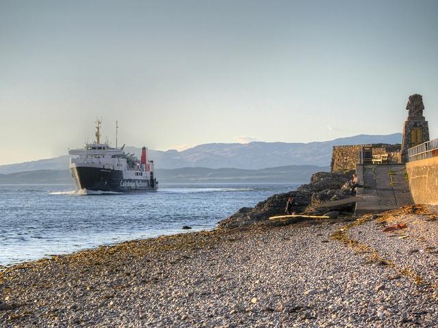 Ferry Entering Oban Bay