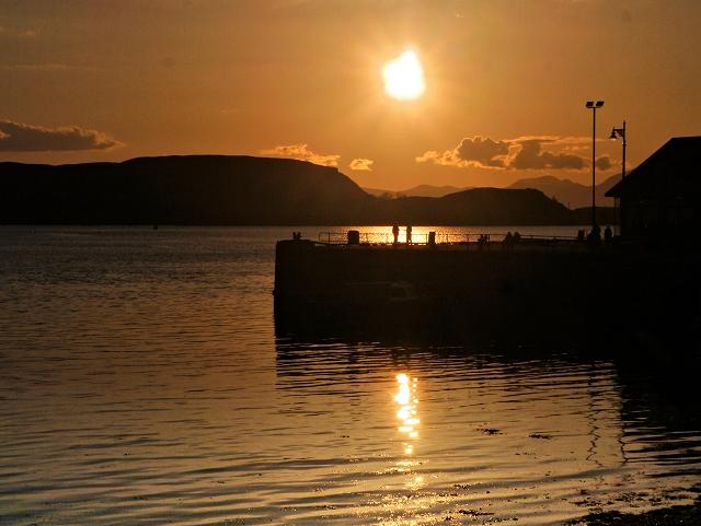 Sunset at Oban Harbour