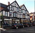 SO4593 : Black and white building in Church Stretton by Jaggery
