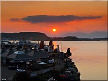 NM8529 : Sunset over Oban Ferry Terminal by David Dixon
