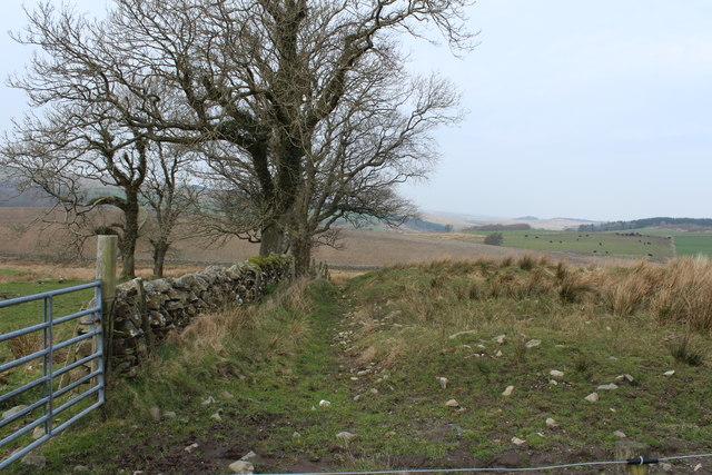 Stane Dyke & Farmland near Bar Hill