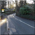 ST1176 : No footway for 950 yards ahead south of St Fagans by Jaggery