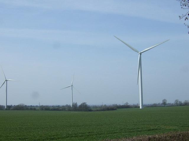Farmland and wind turbines by JThomas