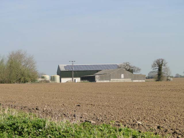 Buildings at Parkfield farm by Adrian S Pye