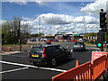 SP3065 : New crossing nearing completion at north end of Europa Way A452, Leamington by Robin Stott