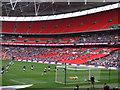 TQ1985 : The Posh at Wembley - Britt Assombalonga scores a penalty by Richard Humphrey