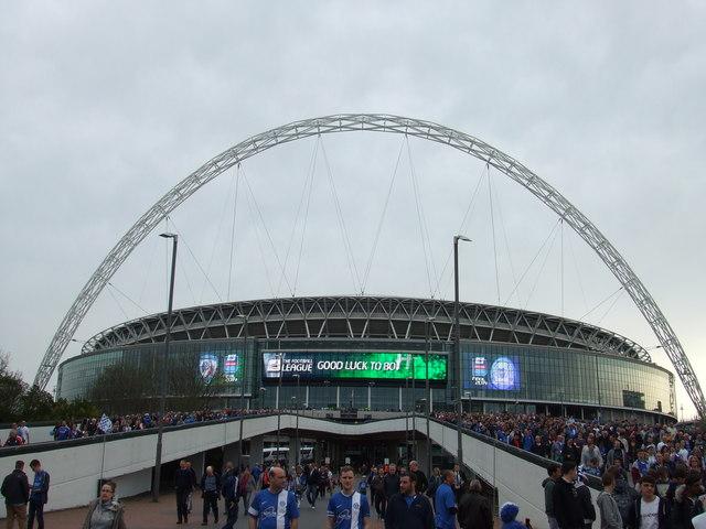 The Posh at Wembley - Fans on Wembley Way