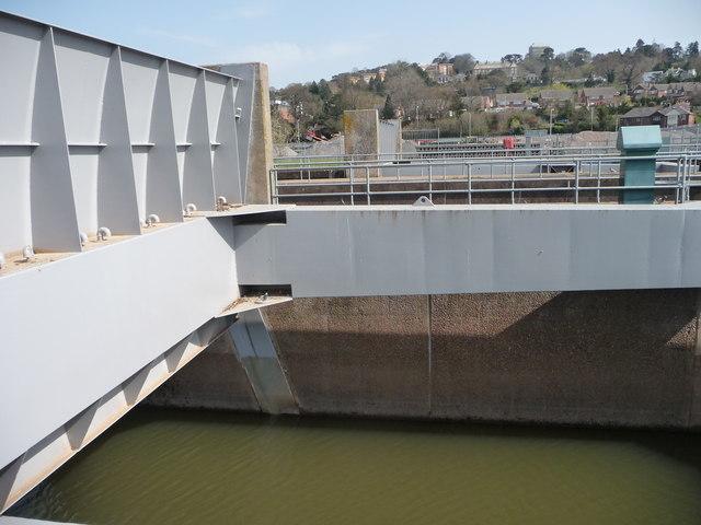 Flood control gate, River Exe