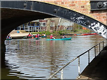 SK5907 : Canoeists on the River Soar by Mat Fascione