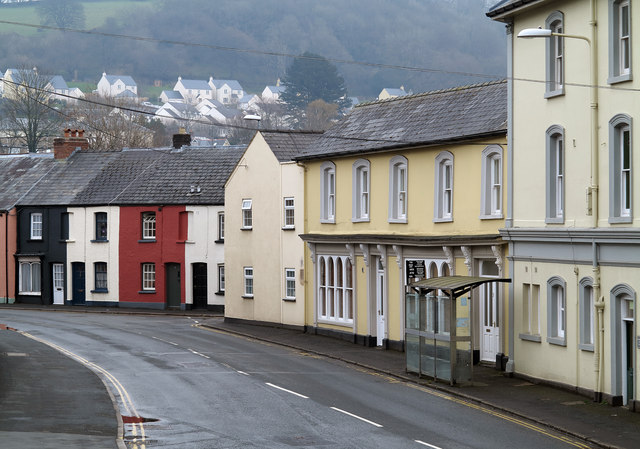 Houses in Free Street, Brecon