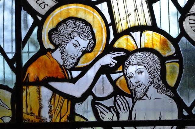 Baptism Stained Glass Window Detail 169 Julian P Guffogg