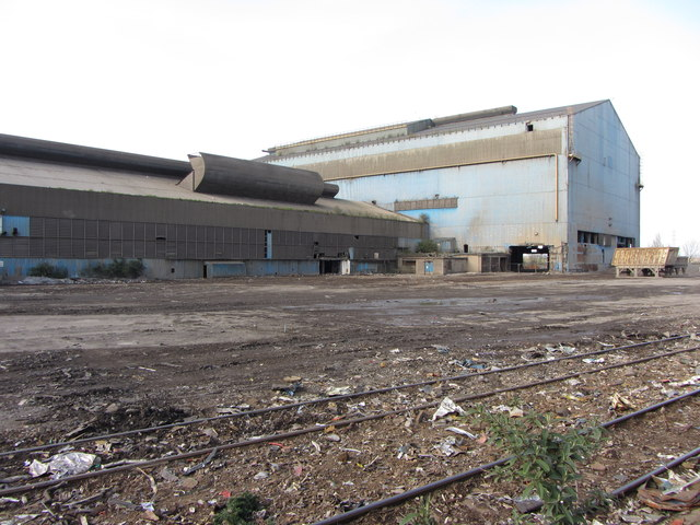 Demolition work at the Celsa steelworks by Gareth James