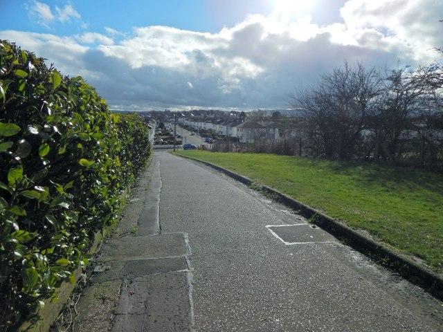 Path beside Penilee Road