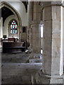 TL1381 : Steeple Gidding: St Andrew - nave, south arcade and chancel by John Sutton
