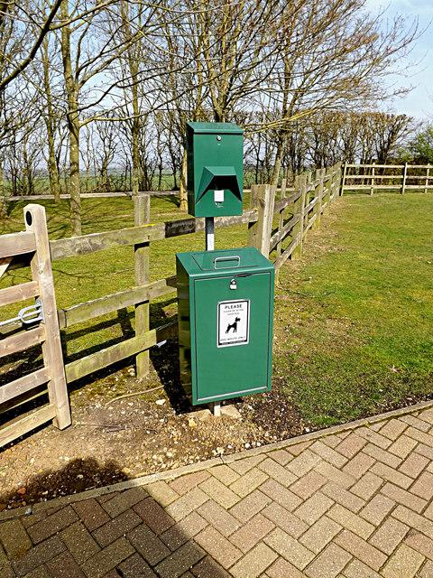 Fido Bin & Bag Dispenser at Wood Green Animal Shelter