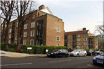 TQ2785 : Barn Field and Wood Field flats, Belsize Park by Kate Jewell