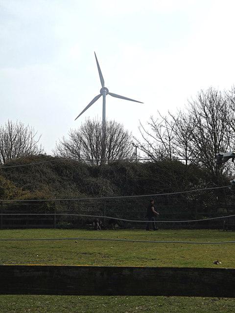 Wind Turbine at Wood Green Animal Shelter