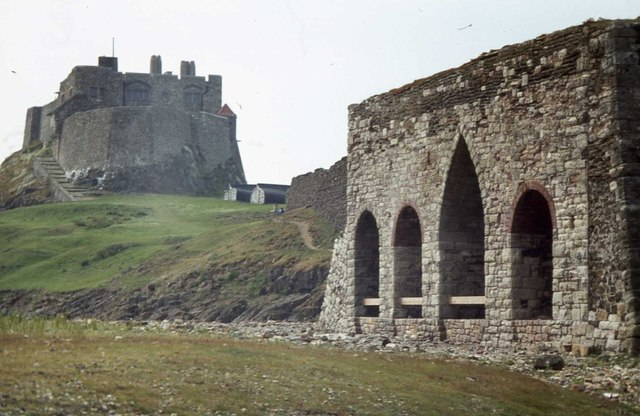 Lindisfarne castle from the limekilns