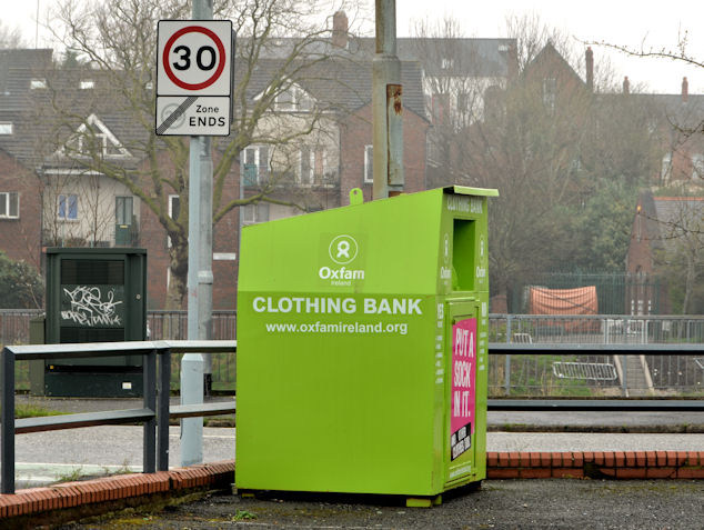 Oxfam clothing bank, Annadale, Belfast