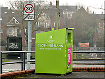 J3472 : Oxfam clothing bank, Annadale, Belfast by Albert Bridge