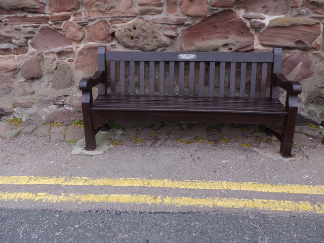 A commemorative bench seat, Old Pier Stonehaven