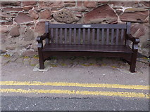 NO8785 : A commemorative bench seat, Old Pier Stonehaven by Stanley Howe