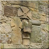 NY9371 : St. Giles Church, Chollerton - mediaeval crosses by Mike Quinn