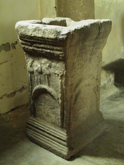 St. Giles Church, Chollerton - font