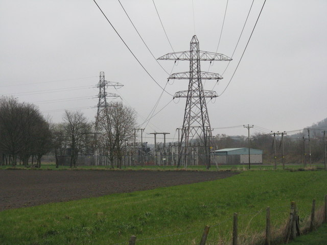 Electricity sub-station at Inverkeithing