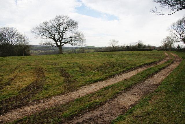 Farm track above Harlow Farm