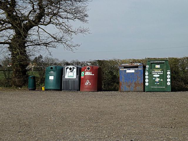 Recycling at Earl Stonham Village Hall