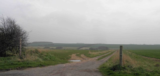 Field track on the Lincolnshire Wolds