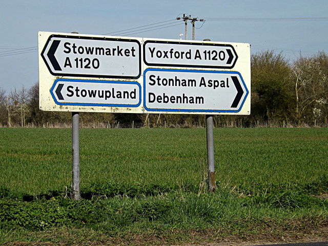 Roadsigns on the A1120