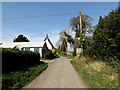 TM1058 : Church Lane, Earl Stonham by Adrian Cable