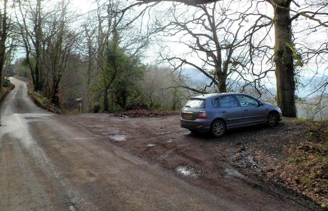 White Rocks & King Arthur's Cave parking area, Doward