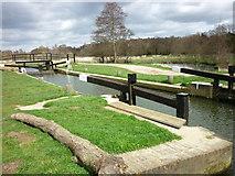 SU9947 : St Catherine's Lock by Carroll Pierce