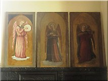 NY9371 : St. Giles Church, Chollerton - panel behind altar by Mike Quinn