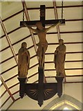 NY9371 : St. Giles Church, Chollerton - crucifixion by Mike Quinn