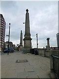 TQ3078 : Pillar at eastern end of Lambeth Bridge by Paul Gillett