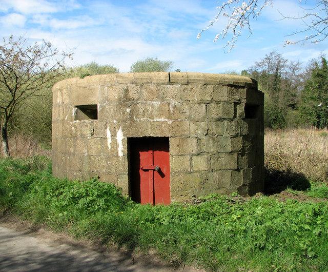 WW1 pillbox in Bradfield